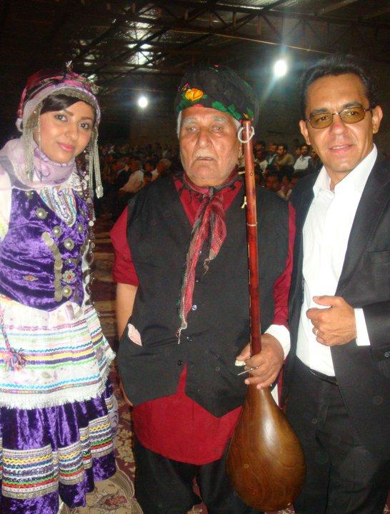 یلدا عباسی و محسن میرزاده و استاد سهراب محمدی(بجنورد،خرداد 90)